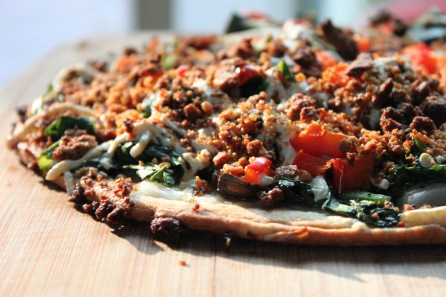 spinach gf pizza