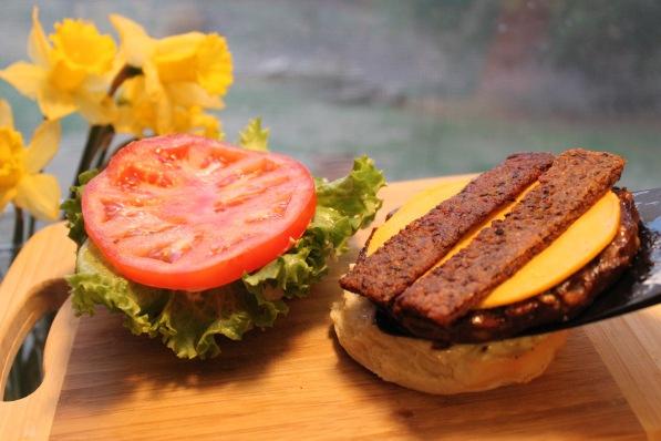 Vegan Bacon _ Vegan Cheese Beast burger